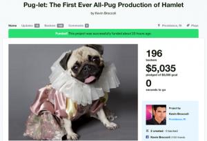 Puglet , Hamlet performed by Pugs
