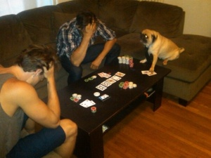 6. They play a mean hand of poker.